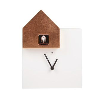 Ettore Cucù Clock - White/Copper