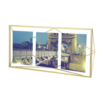 Prisma Multi Photo Frame - Matt Brass