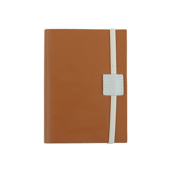 Recycled Leather Notebook - Caramel