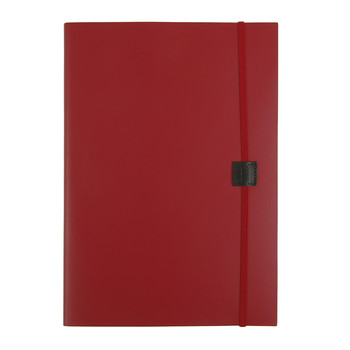 Recycled Leather Notebook - Poppy