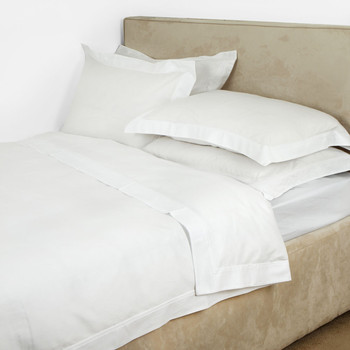 Triomphe Sateen Blanc Bed Linen