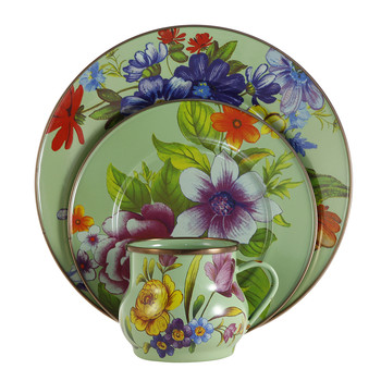 Flower Market Green Tableware