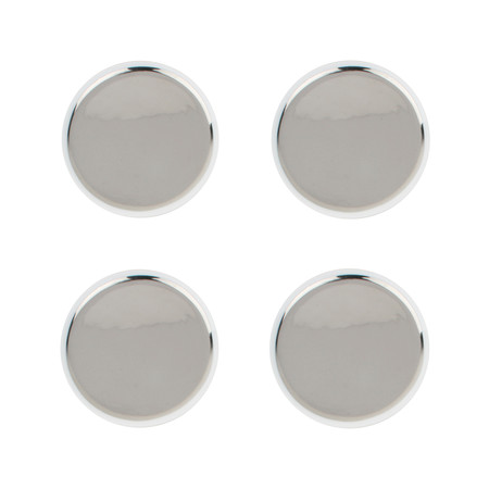 Canvas Home - Dauville Tidbit Plates - Set of 4 - Platinum