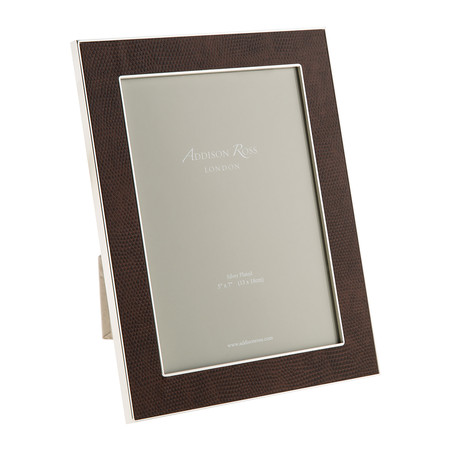 """Addison Ross - Coffee Faux Snake Photo Frame - 5x7"""""""