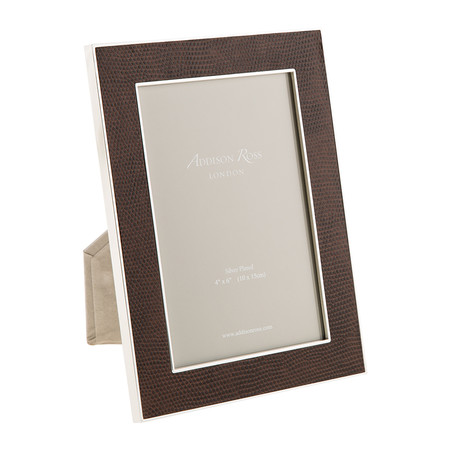Addison Ross - Coffee Faux Snake Photo Frame - 4x6""