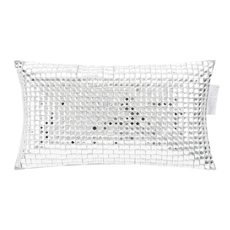 Kylie Minogue at Home - Square Diamond Bed Cushion - 18x32cm - Silver