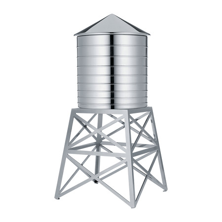 Alessi - Water Tower Container - Stainless Steel
