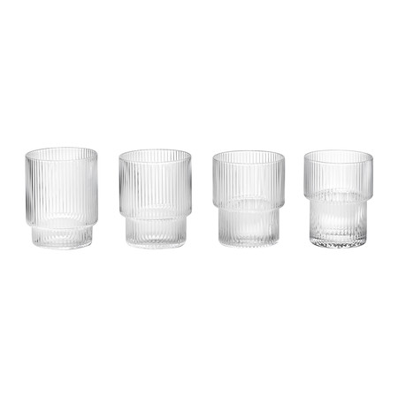 Ferm Living - Ripple Glass - Set of 4 - Clear
