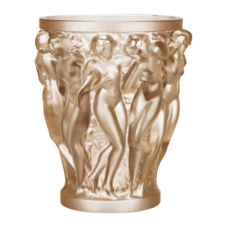 Lalique - Bacchantes Crystal Vase - Gold Luster - Small