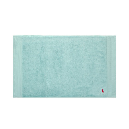 Buy Ralph Lauren Home Small Logo Player Bath Mat Aqua