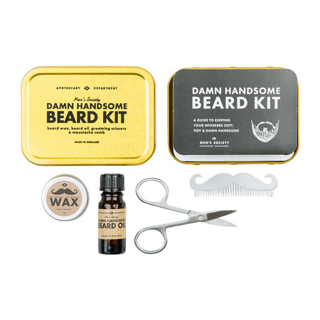 buy men 39 s society beard grooming kit amara. Black Bedroom Furniture Sets. Home Design Ideas