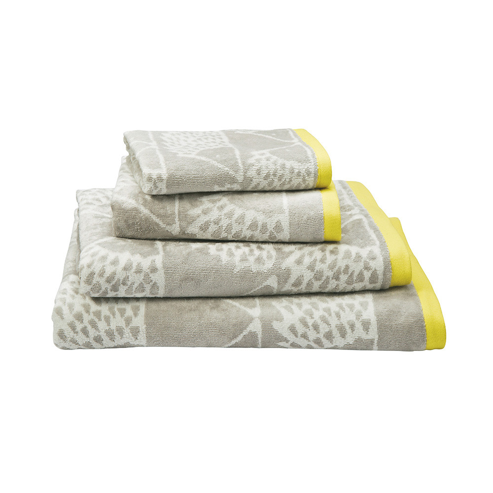 Yellow And Grey Bathroom Hand Towels   Image of Bathroom and Closet
