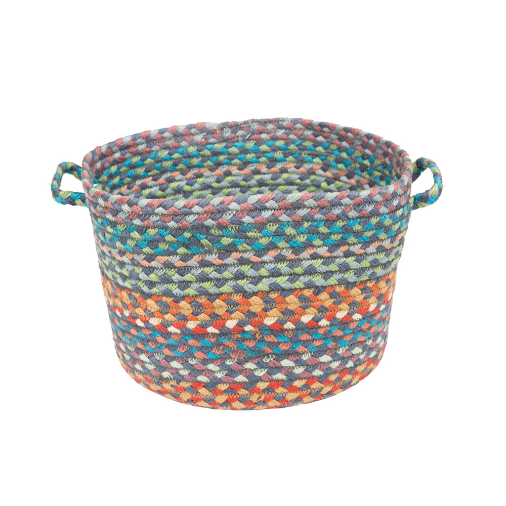 The Braided Rug Company - Utility Basket - Carnival Blue - Medium