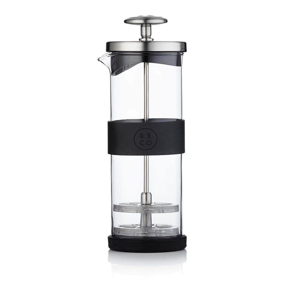 Barista  Co - Milk Frother Jug with Silicone Grip Band - Electric Steel