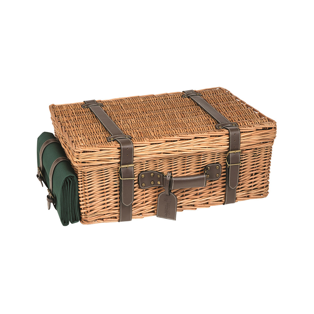 Les Jardins de la Comtesse - Champs Elysees Picnic Basket - Green - 6 Person