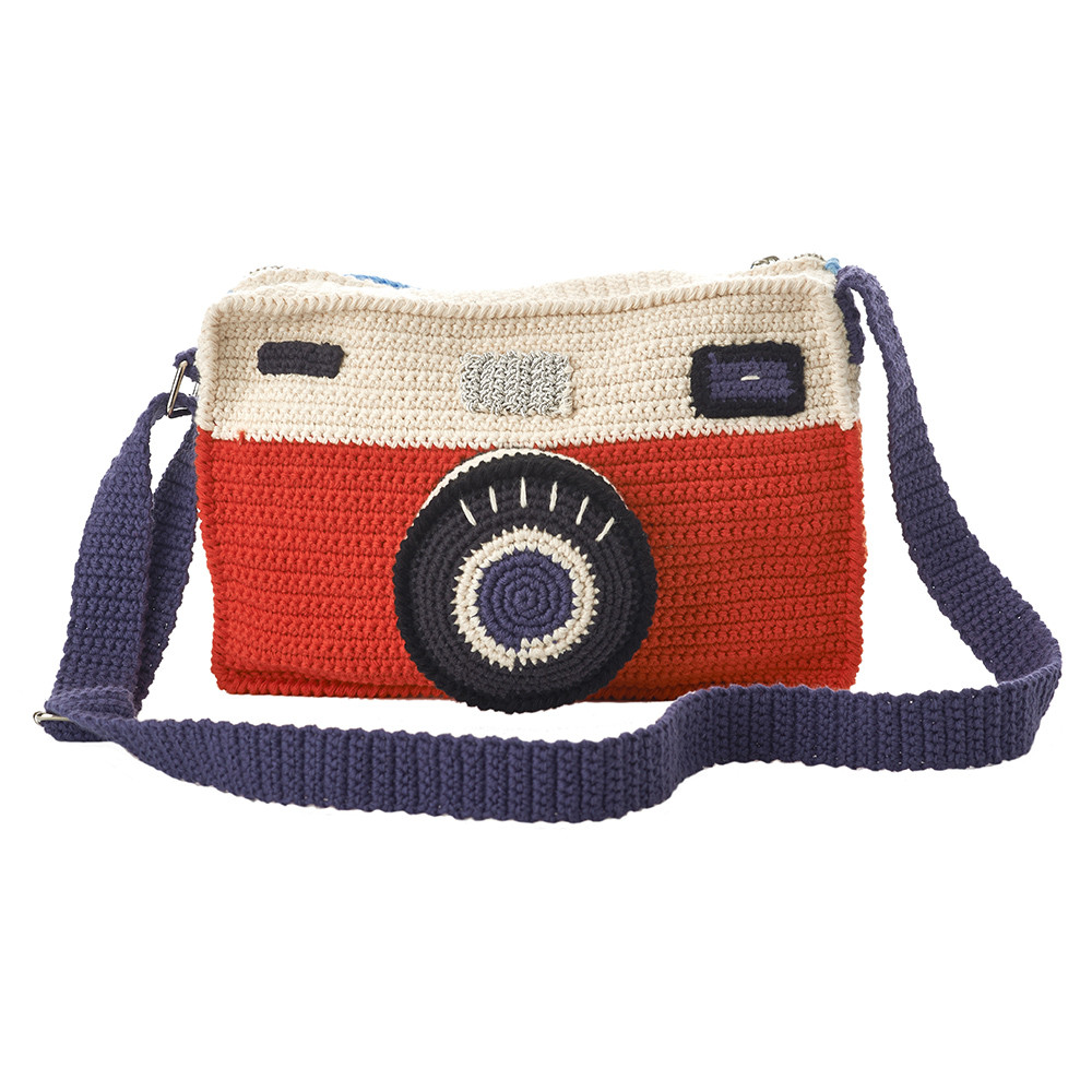 AnneClaire Petit  Crochet Camera Bag
