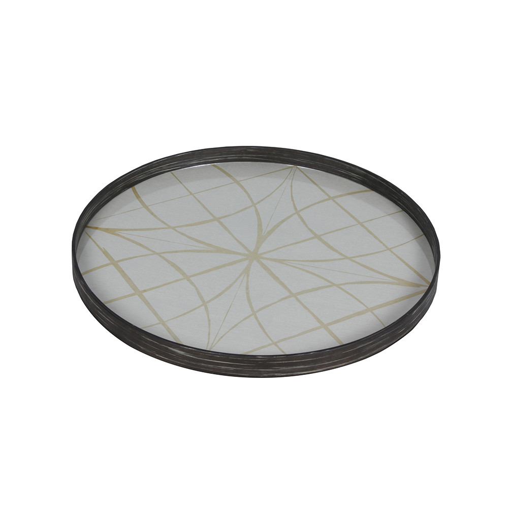 Notre Monde - Clear Geometry Glass Tray