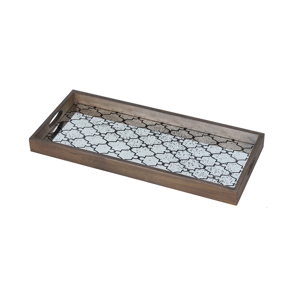Notre Monde - Bronze Gate Rectangular Mirror Tray