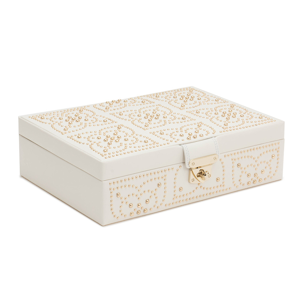 Wolf Wolf – Marrakesh Flat Jewellery Box – Cream