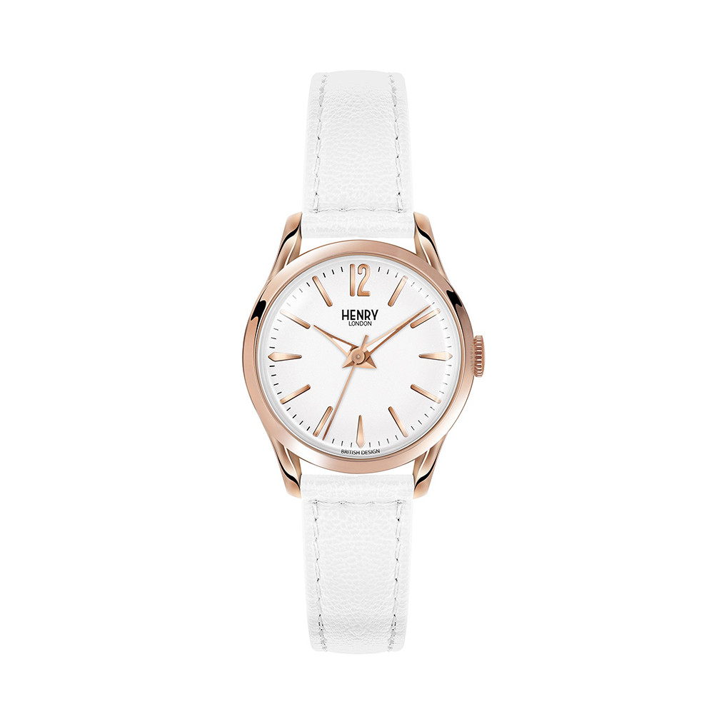 Buy Henry London Pimlico White Leather Strap Watch