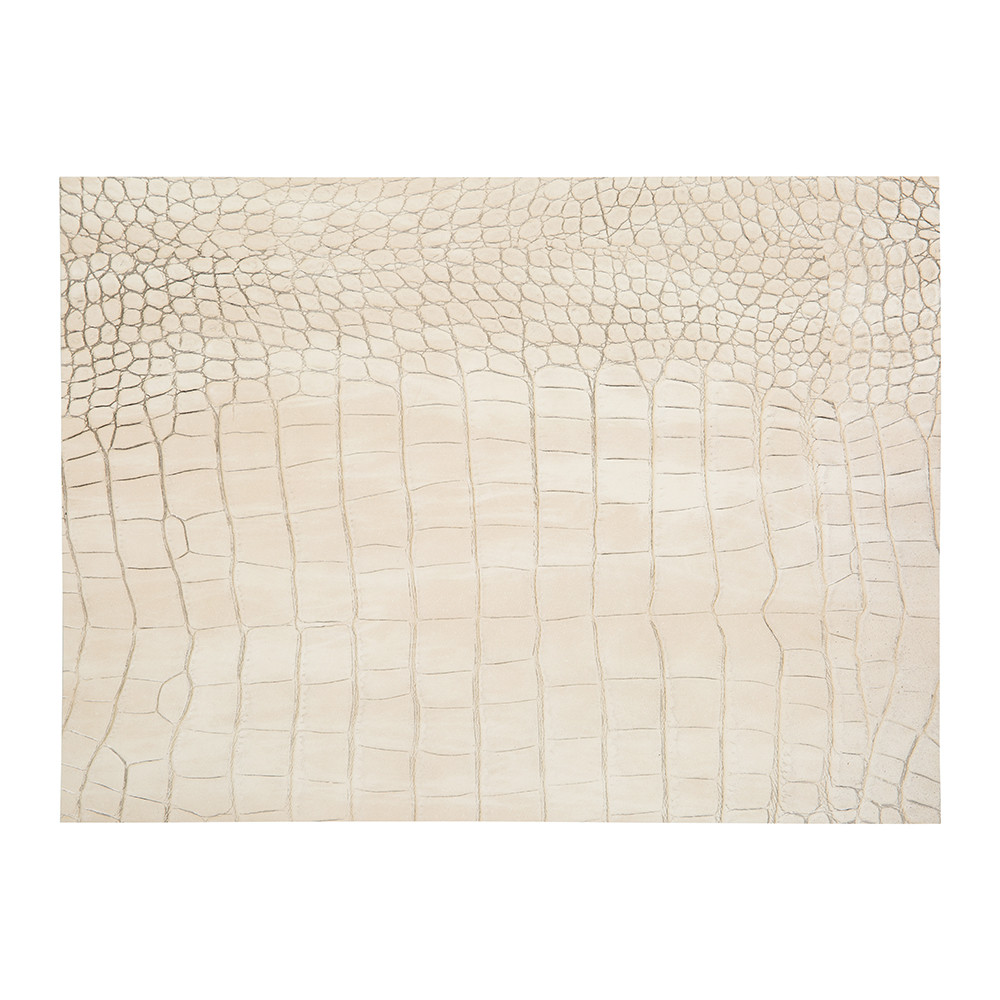 A by AMARA - Gator Recycled Leather Placemat - Ivory