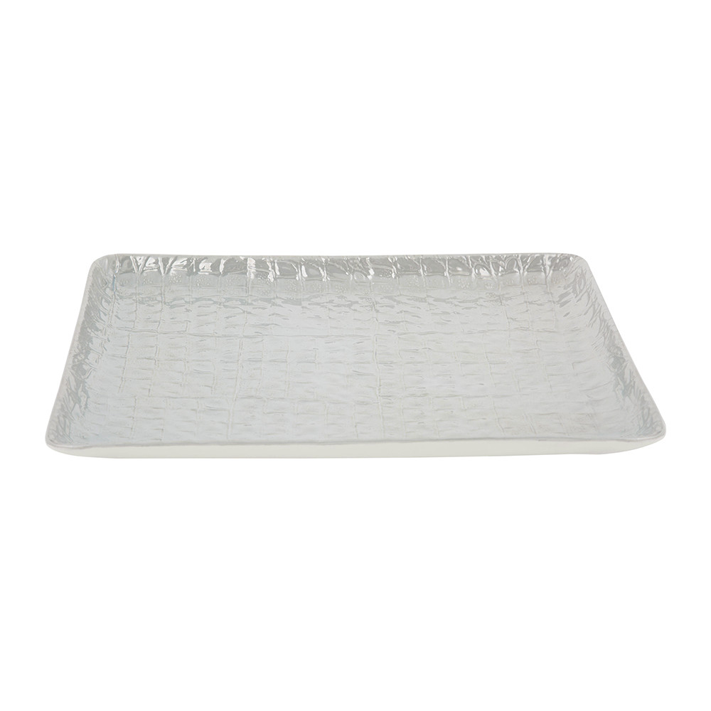 Villari - Alligator Vanity Tray - Pearl Grey