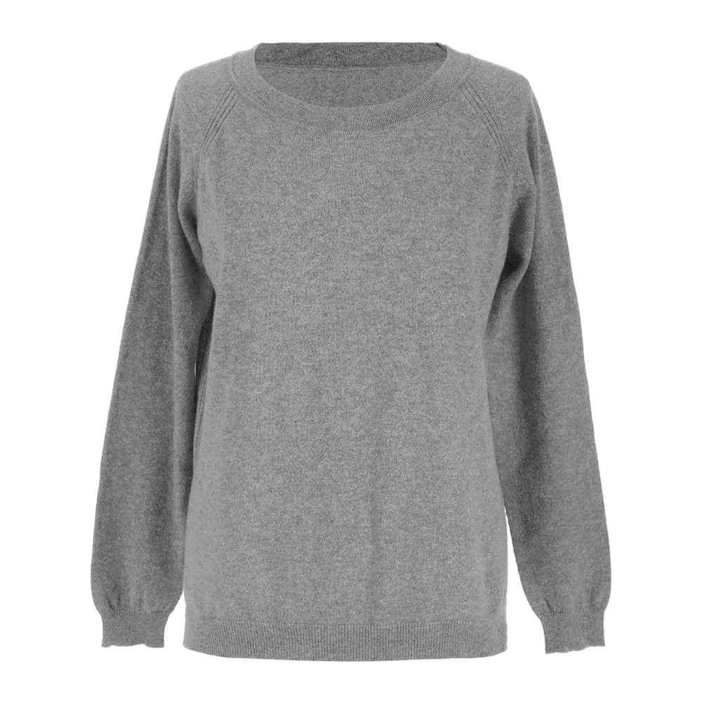 Buy A by Amara Leven Cashmere Sweater - Light Grey | Amara