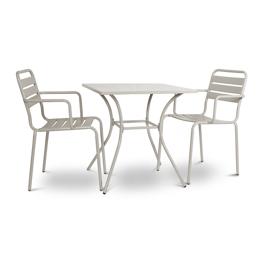 Buy garden trading dean street set of 2 chairs table amara - Metal garden table and chairs ...