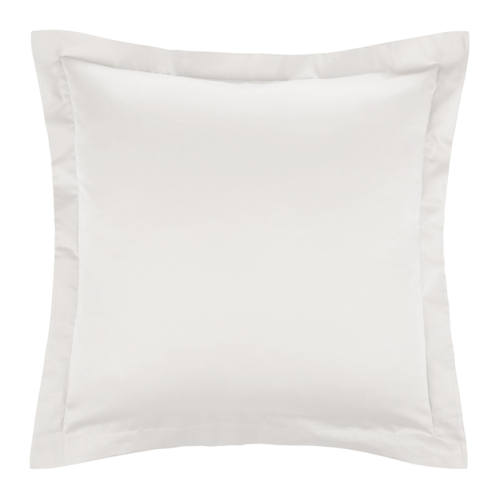 A by Amara  Cotton Sateen 300 Thread Count Pillowcase  Ivory  Square