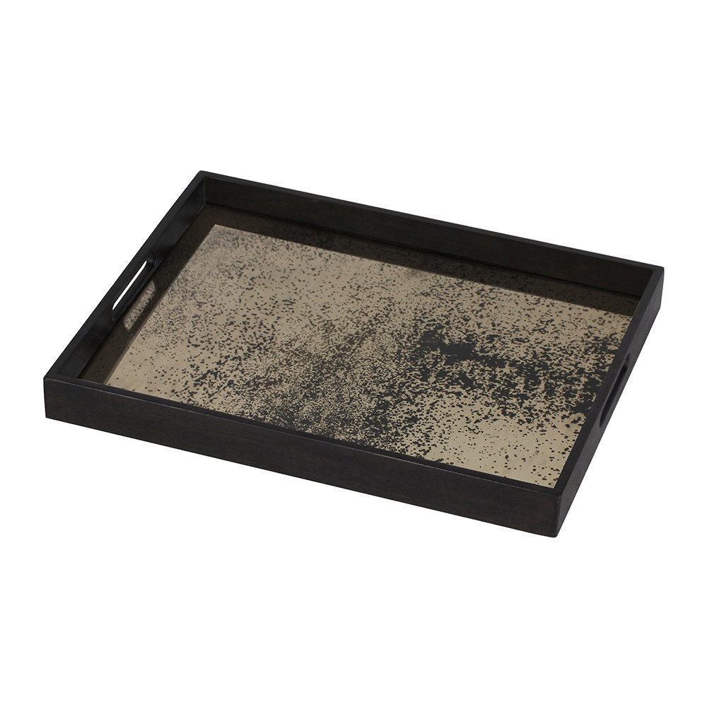 Ethnicraft - Heavy Aged Bronze Mirror Tray - Rectangular - Small