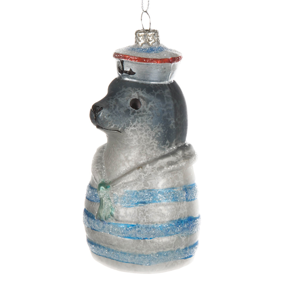Cody Foster  Co - Sailor Seal Christmas Tree Decoration - Set of 2