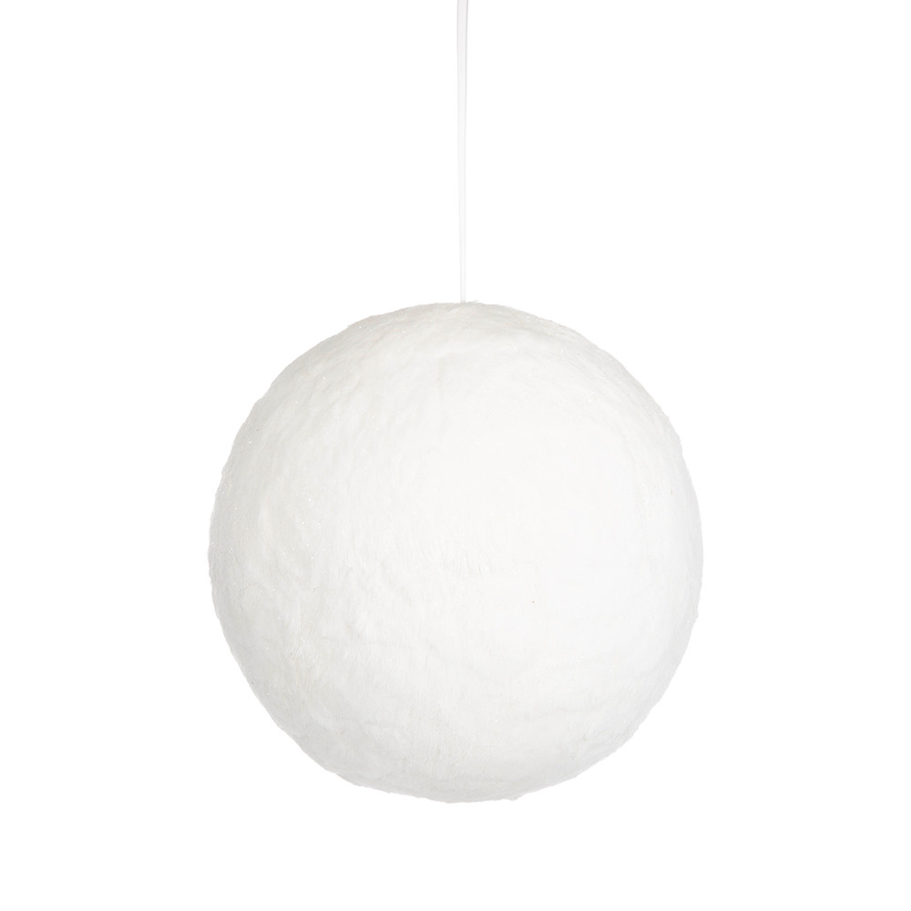 A by AMARA Christmas - Furry Snow Christmas Bauble - Large