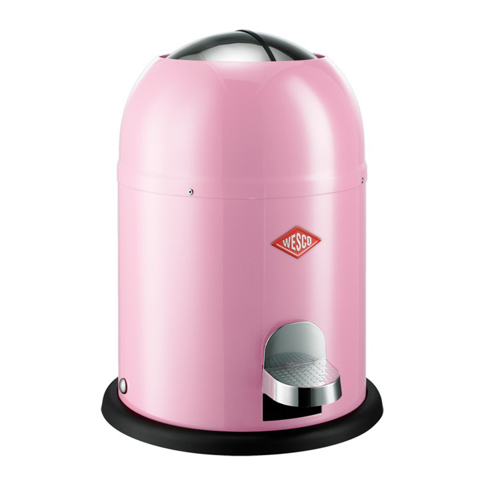 Buy wesco single master bathroom bin pink amara for Pink bathroom bin