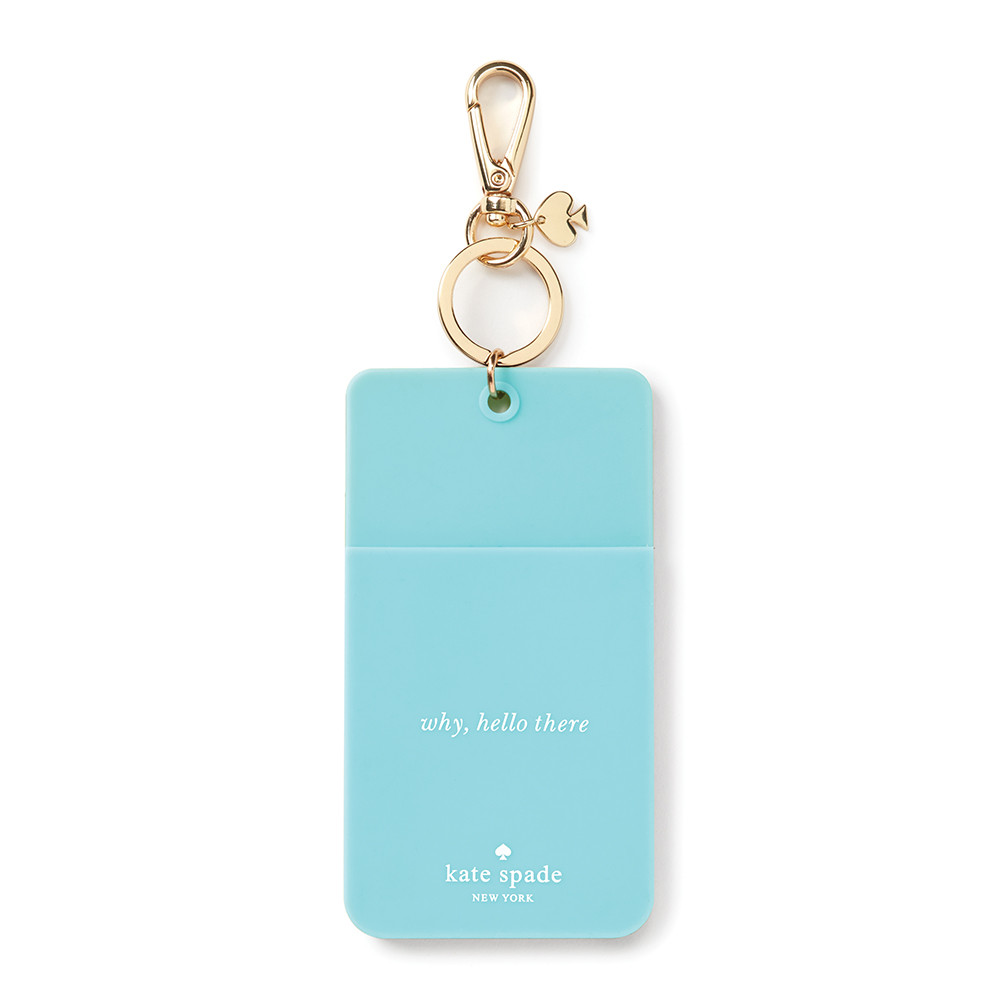 buy kate spade new york 39 why hello there 39 luggage tag turquoise colorblock amara. Black Bedroom Furniture Sets. Home Design Ideas