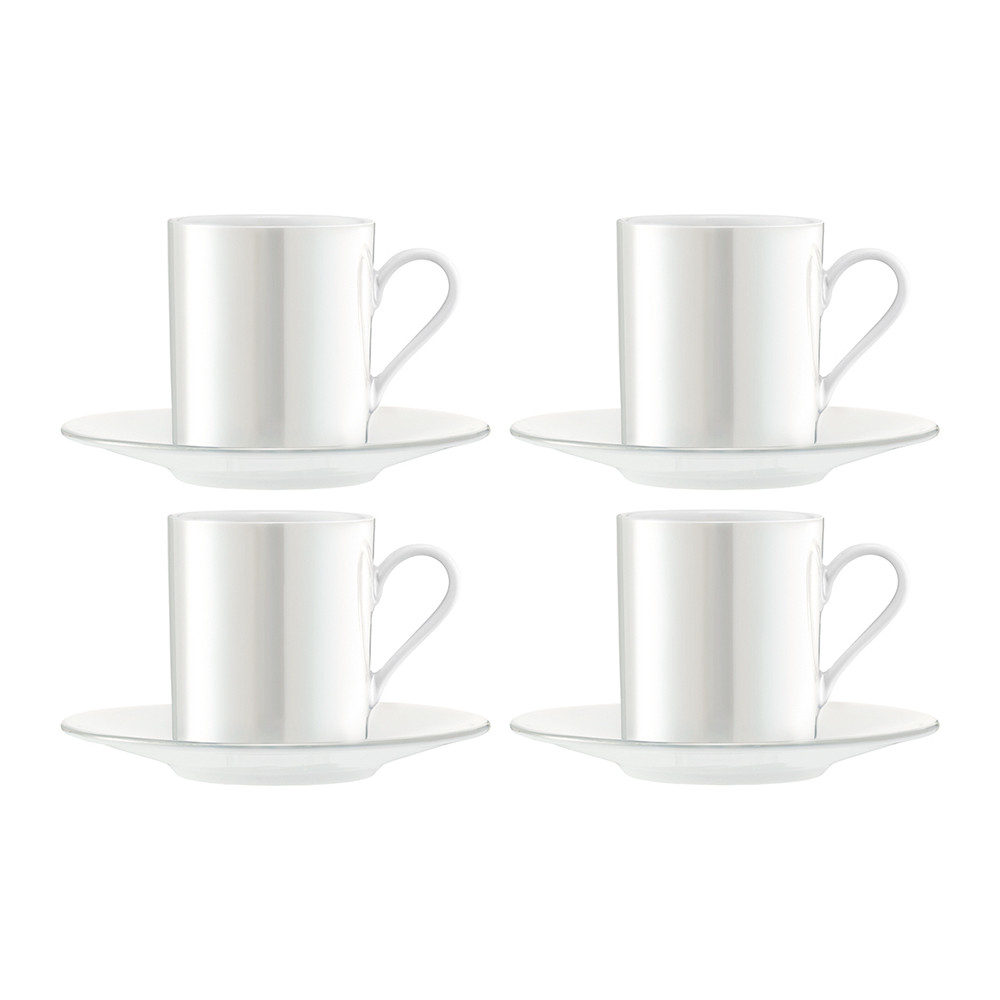 LSA International - Pearl Espresso Cup & Saucer - Set of 4