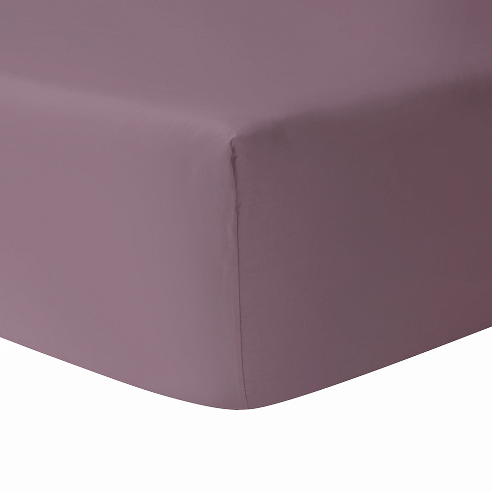 Yves Delorme  Triomphe Fitted Sheet  Plum  Super King