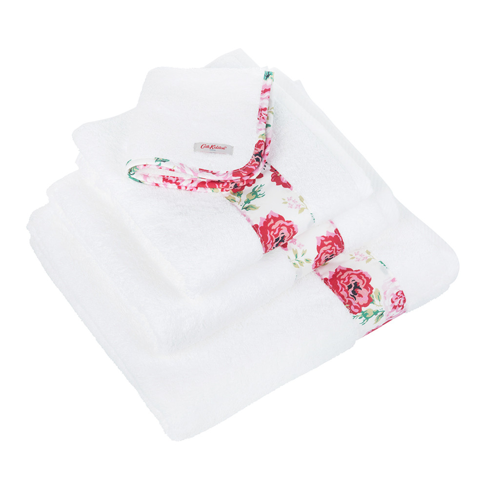 Buy cath kidston antique rose band towel hand towel amara for Bathroom hand towels