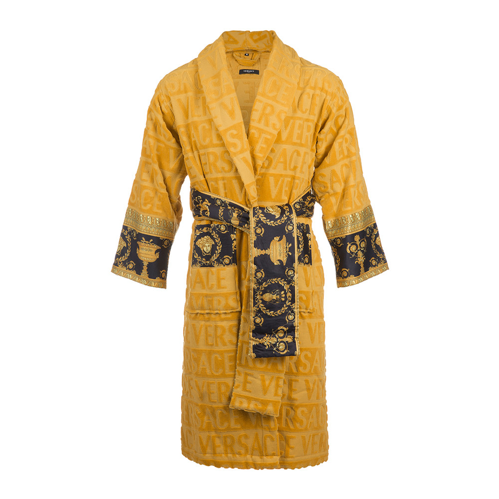 Dressing Gowns And Robes: Buy Versace Home Barocco&Robe Bathrobe - Gold