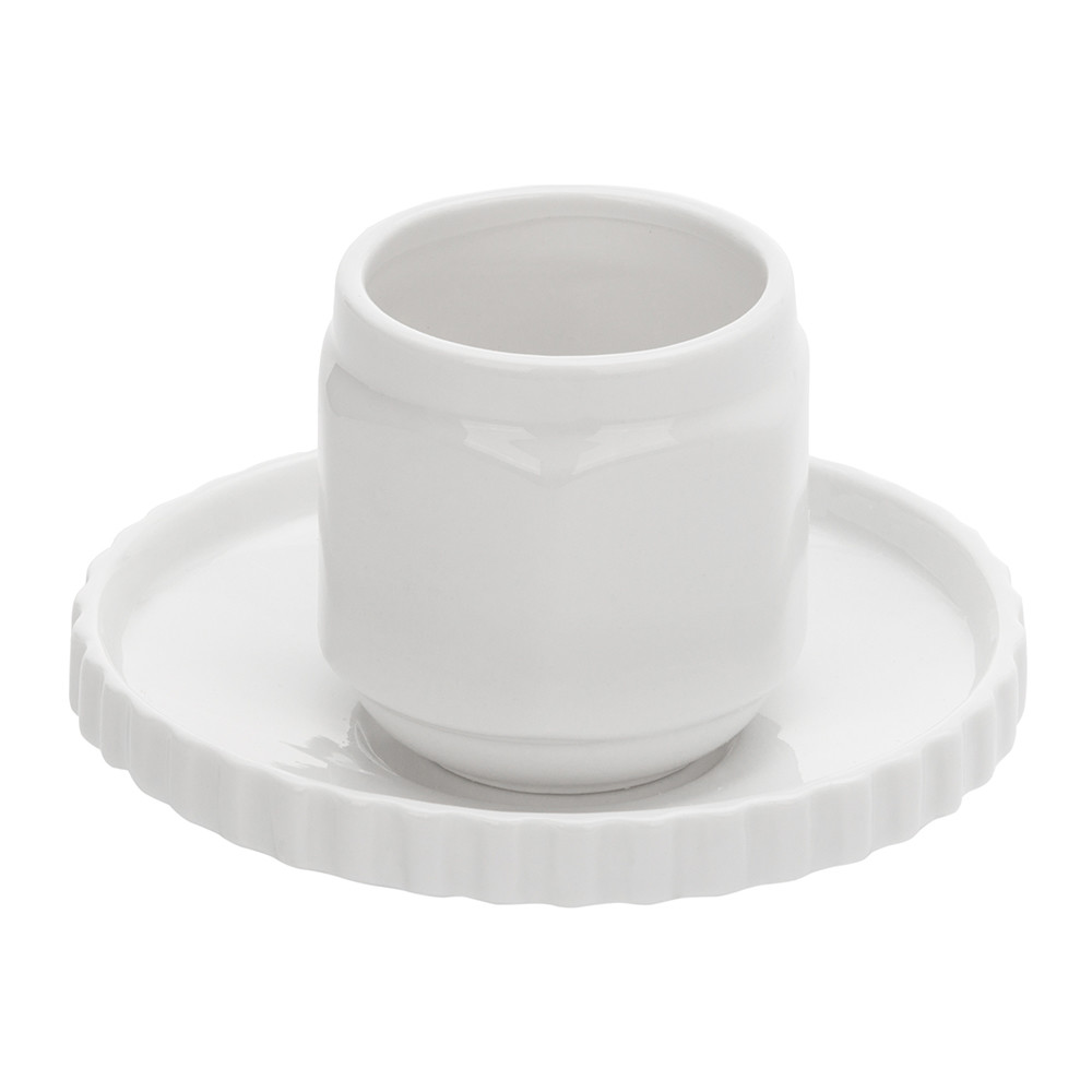 Diesel Living with Seletti Diesel Living with Seletti – Machine Collection Coffee Cup & Saucer – Design 1