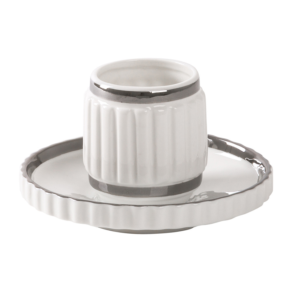 Diesel Living with Seletti Diesel Living with Seletti – Machine Collection Coffee Cup & Saucer – Design 2 Silver