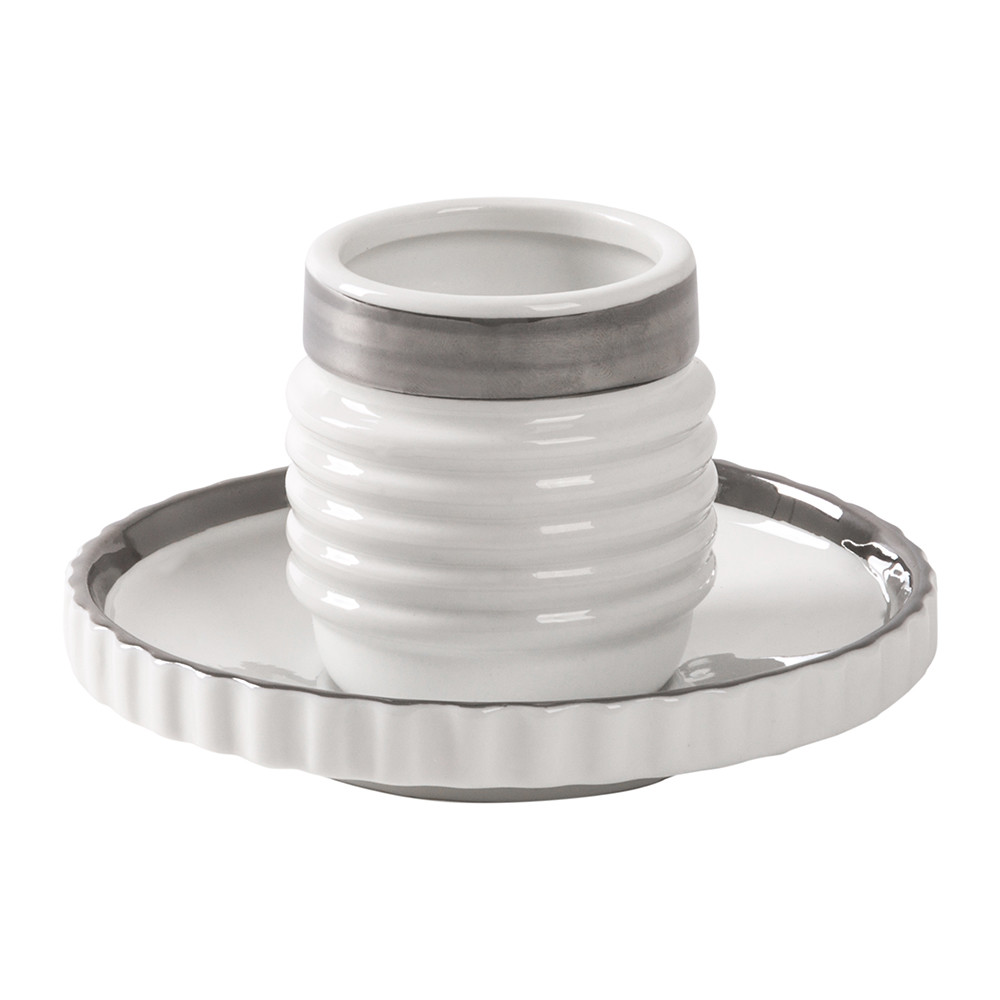 Diesel Living with Seletti Diesel Living with Seletti – Machine Collection Coffee Cup & Saucer – Design 3 Silver
