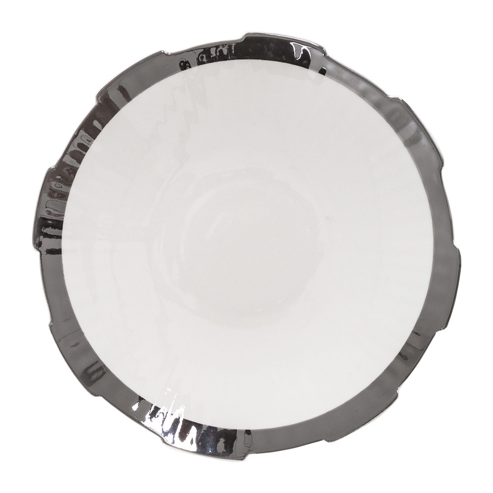 Diesel Living with Seletti Diesel Living with Seletti – Machine Collection Soup Plate – Design 1 Silver