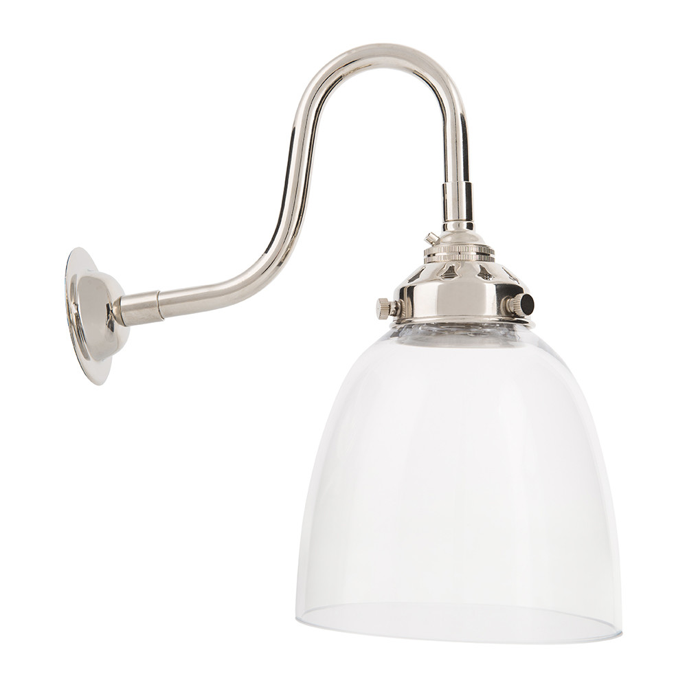 Buy Old School Electric Industrial Glass Wall Light - Bell Amara