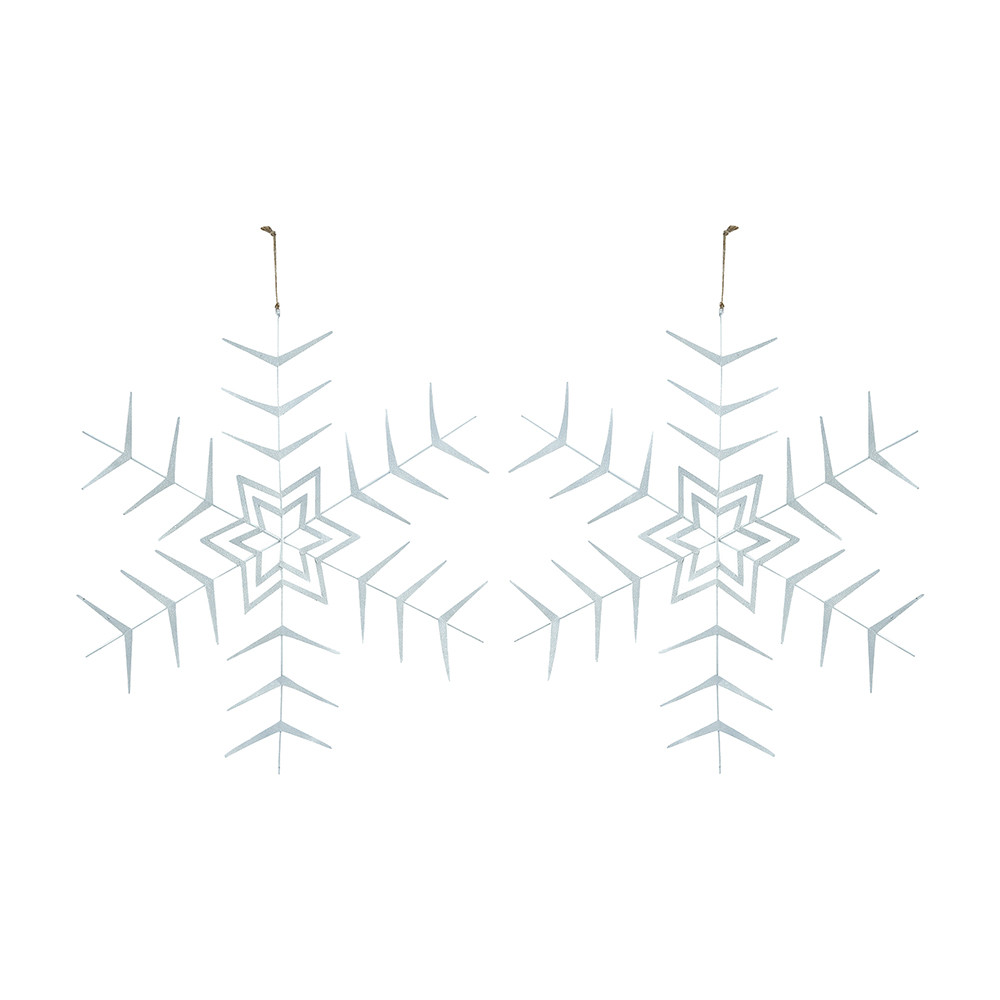 House Doctor House Doctor – White Star Christmas Hanging Ornament – Set of 2
