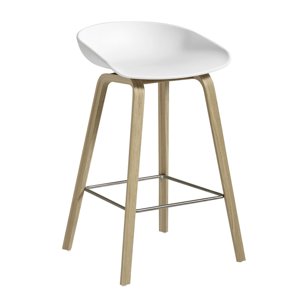 HAY - Oak Stool - Matt White - Low