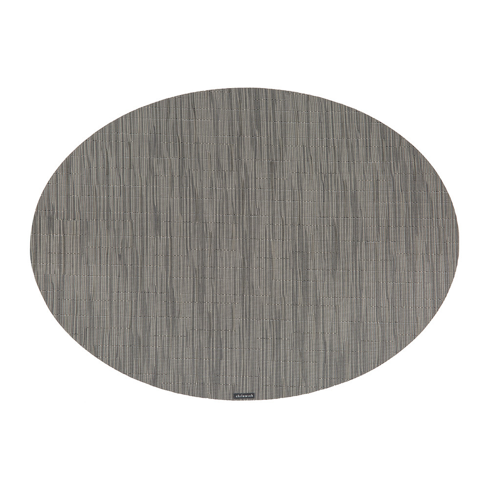 Chilewich - Bamboo Oval Placemat - Grey Flannel