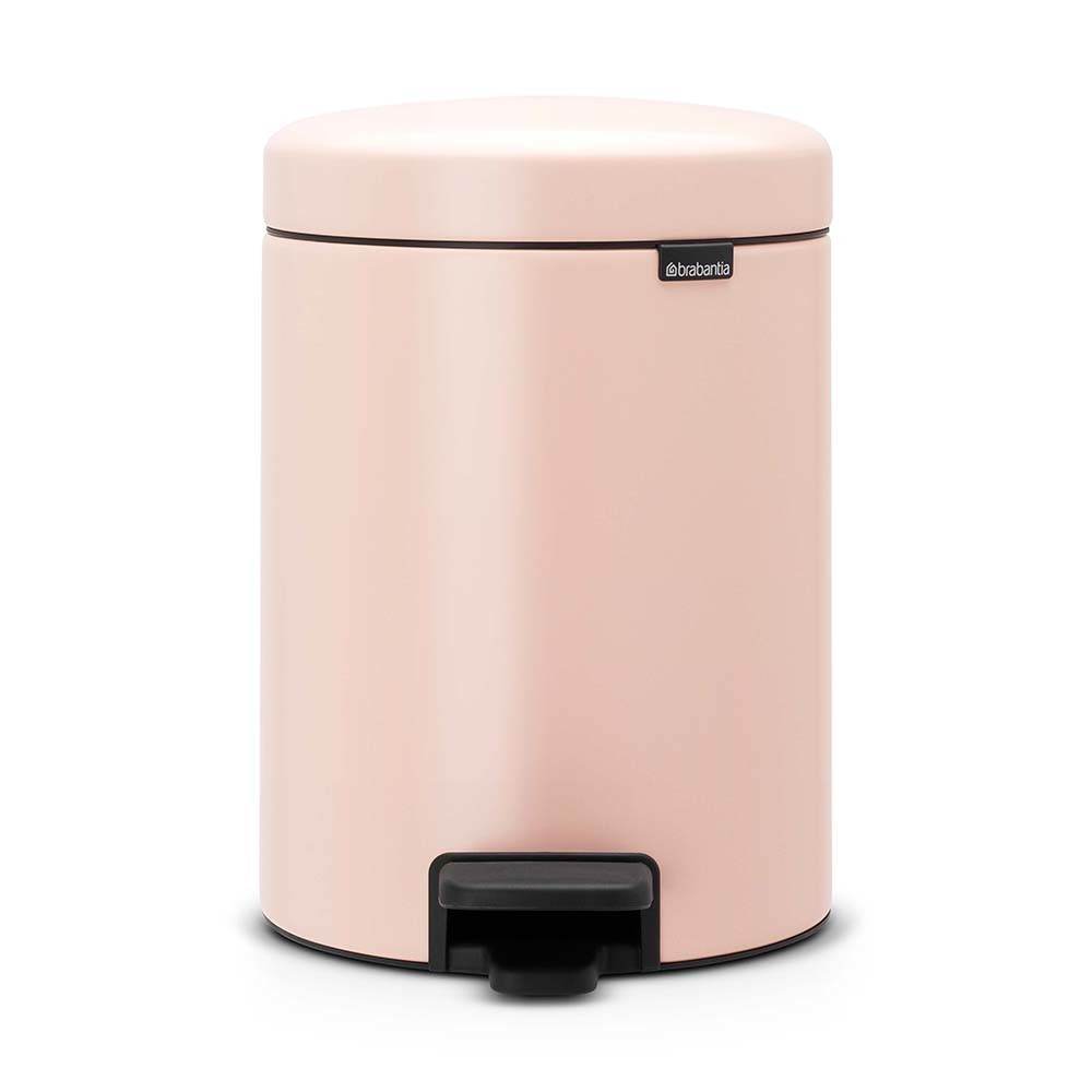 Buy brabantia newicon pedal bin 5 litres clay pink amara for Pink bathroom bin