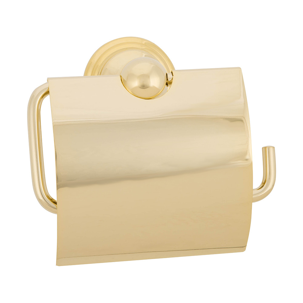 Buy decor walther cltph4 classic toilet paper holder with cover gold amara - Gold toilet paper holder stand ...