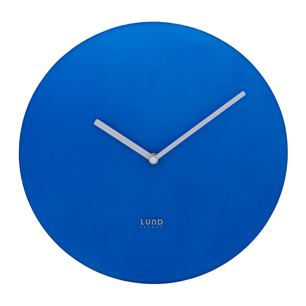 buy lund london neon wall clock blue amara. Black Bedroom Furniture Sets. Home Design Ideas