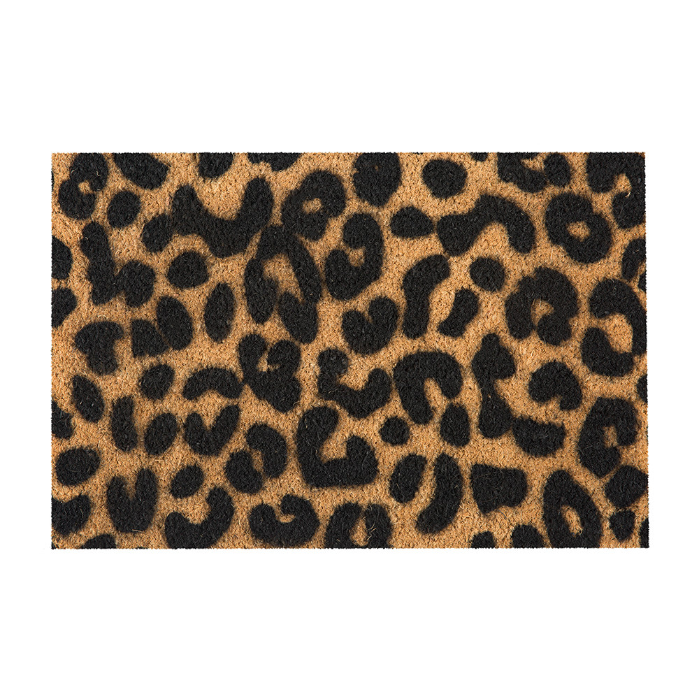 Artsy Doormats - Leopard Door Mat - Black
